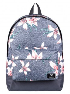 ROXY batoh SUGAR BABY CHARCOAL HEATHER FLOWER FIEL