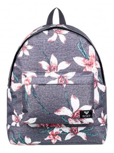 ROXY batoh BEYOUNG CHARCOAL HEATHER FLOWER FIELD