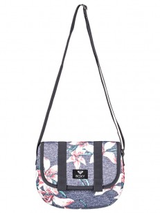 ROXY kabelka BACK ON YOU CHARCOAL HEATHER FLOWER F