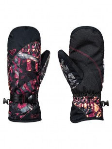 ROXY rukavice JETTY MITT FOUR LEAF CLOVER ZEBRATRE
