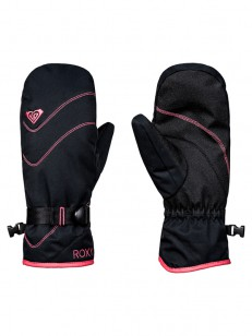 ROXY rukavice JETTY SOLID MITT TRUE BLACK