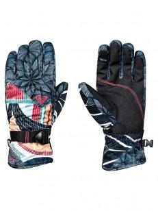 ROXY rukavice JETTY SE TRUE BLACK POP SNOW STARS