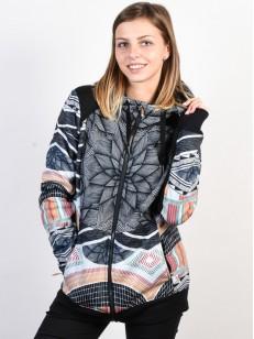 ROXY mikina FROST PRINTED TRUE BLACK POP SNOW STAR