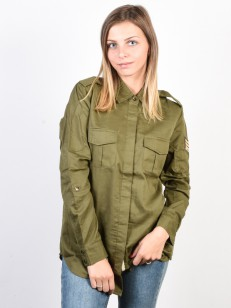 ROXY košile MILITARY INFLUEN BURNT OLIVE