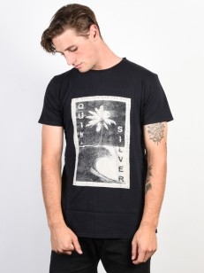 QUIKSILVER triko DESTROYED REALITY BLACK