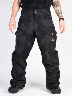 DC kalhoty CODE SE BLACK DCU REFLECTIVE CAMO MEN