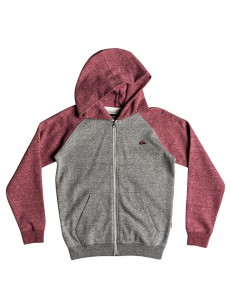 QUIKSILVER mikina EVERY LIGHT GREY HEATHER