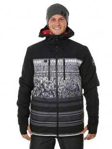 QUIKSILVER bunda MISSION BLOCKEN GINEERED BLACK AL
