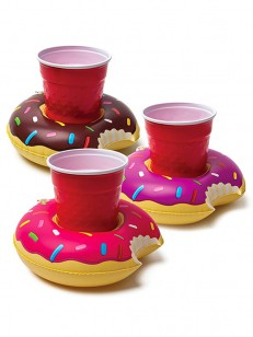 BIG MOUTH INC.  BEV BOAT DONUTS 3PK YEL/PIN