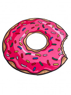 BIG MOUTH INC.  BEACH BLANKET DONUT PINK PIN