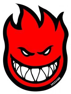 SPITFIRE samolepka STICKER FIREBALL RED