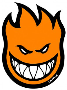 SPITFIRE  STICKER FIREBALL ORANGE