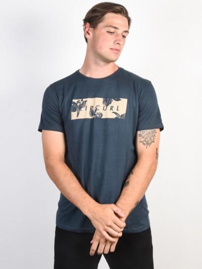RIP CURL tričko UNDERTONE YARD MIDNIGHT NAVY