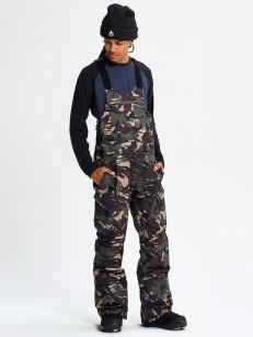 BURTON kalhoty GORE RESERVE BIB SEERSUCKER CAMO