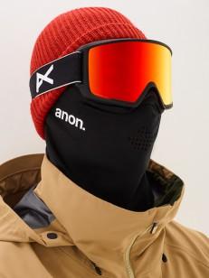 ANON brýle M3 MFI W/SPR BLACK/SONARRED