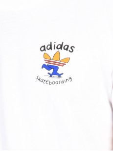 ADIDAS triko PUSHING TEE WHITE/CORANG/TACTYLE YELL