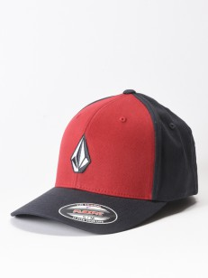 VOLCOM kšiltovka FULL STONE XFIT Engine Red