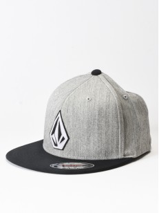 VOLCOM kšiltovka STONE STACK JFIT Heather Grey
