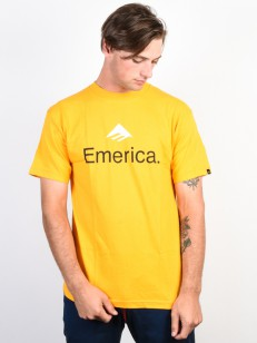 EMERICA tričko EMERICA SKATEBOARD LOGO GOLD