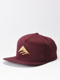 EMERICA šiltovka TRIANGLE BURGUNDY