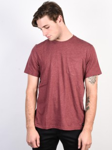 ELEMENT triko BASIC CR OXBLOOD HEATHER