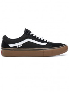 VANS boty OLD SKOOL PRO Black/White/Medium Gum