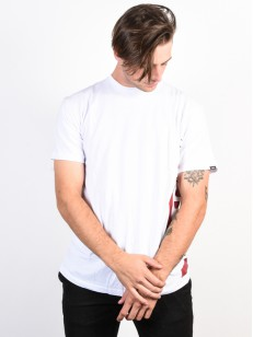 VANS triko DISTORTED WHITE