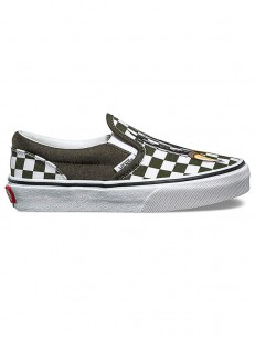 VANS boty CLASSIC SLIP-ON (CHECKERBOARD) DINO/TRUE