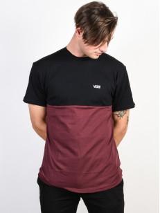 VANS tričko COLORBLOCK PORT ROYALE-BLACK
