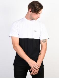 VANS tričko COLORBLOCK WHITE-BLACK
