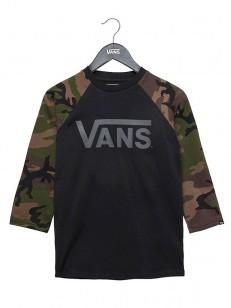 VANS tričko CLASSIC BLACK-CAMO