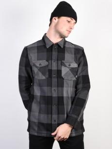 VANS košile HIXON IV BLACK-CHARCOAL
