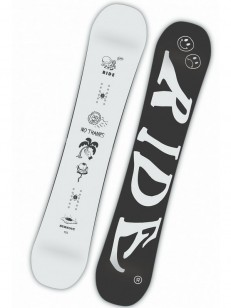 RIDE snowboard BURNOUT WHT/BLK