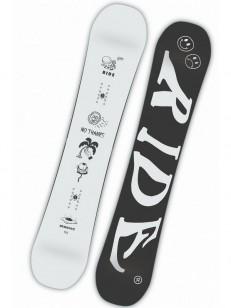 RIDE snowboard BURNOUT WHT/BLK
