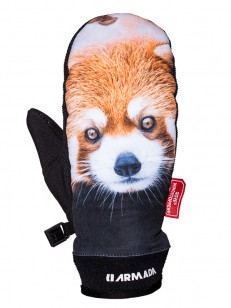 ARMADA rukavice CARMEL WINDSTOPPER MITT red panda