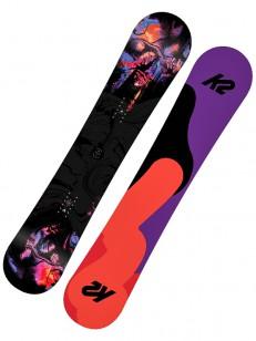 K2 snowboard FIRST LITE VIOLET/BLACK/ORANGE