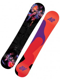 K2 snowboard FIRST LITE ORANGE/VIOLET/RED
