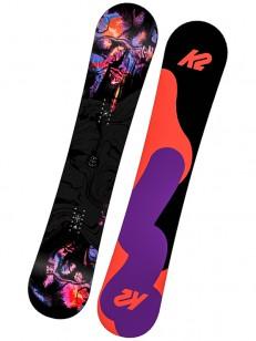 K2 snowboard FIRST LITE BLACK/RED/VIOLET