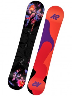 K2 snowboard FIRST LITE BLACK/RED/VIOLET