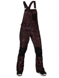 VOLCOM kalhoty SWIFT BIB Black Floral Print