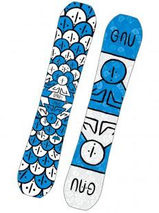 GNU snowboard ASYM FB HEAD SPACE C3 WHT/BLU