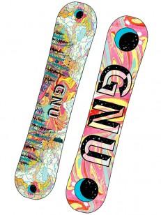 GNU snowboard ASYM PLAYDATE BTX WHT/PIN