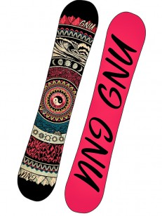GNU snowboard ASYM LADIES CHOICE C2X BLK/PIN