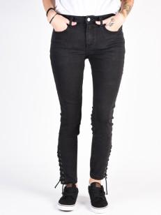 RVCA kalhoty DAYLEY BLACK DENIM