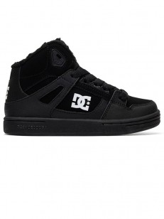 DC boty PURE HIGH-TOP WNT BLACK/BLACK/WHITE