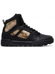 DC boty PURE HIGH-TOP WR BLACK CAMO