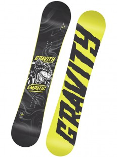 GRAVITY snowboard EMPATIC GRY/YEL
