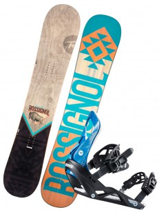 ROSSIGNOL komplet TEMPLAR WIDE+VIPER BLUE/ORANGE