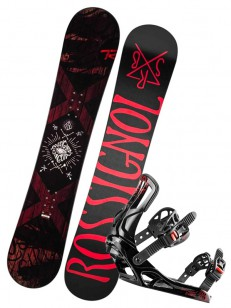 ROSSIGNOL komplet CIRCUIT WIDE+BATTLE BLACK/RED