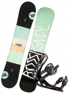 ROSSIGNOL komplet DISTRICT LTD+BATTLE BLACK/GREEN/